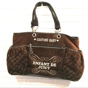 Women s Juicy Couture Velour Diaper Bag on Poshmark fbbab19b7